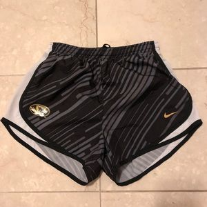 Mizzou Nike Dri-fit lined shorts